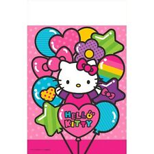 "96"" x 54"" Hello Kitty Rainbow Birthday Party Disposable Plastic Table Cover"