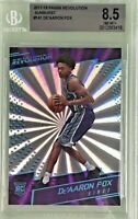 De'Aaron Fox 2017-18 Panini Revolution Rookie Sunburst /75 BGS 8.5