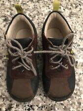 Ecco Boys Toddler Baby size 23 brown & Blue leather lace up shoes oxfords 6 US