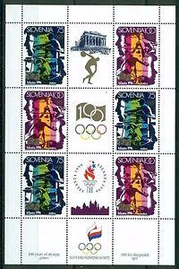 SLOWENIEN SLOVENIA 1996 ATLANTA 96 SUMMER OLYMPIC GAMES SHEET **