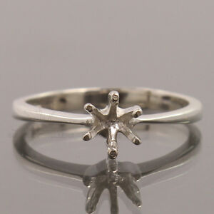 ENGAGEMENT FINE RING ALL SIZES SETTING ROUND 5mm 925 STERLING SILVER SEMI MOUNT