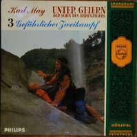 """Karl May Unter Geiern Der Sohn Des Bären 7"""" EP Mono Vinyl Schallplatte 47618"""