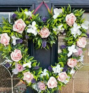 Large 40cm artifical floral  Heart Wreath