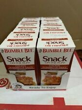 (12) Bumble Bee Snack on the Run Chicken in Barbecue Sauce /crackers 3.5oz 10/20