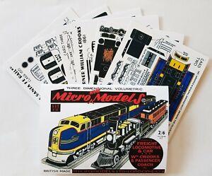 Micromodels FII Santa Fe Freight & W Crooks Locomotive Micro New Models card kit
