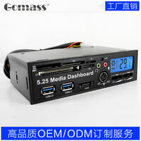 PCI-E to USB 3.0 Hub media dashboard SD TF CF XD M2 Card Reader Fan Speed Contro