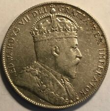 NEWFOUNDLAND - Edward VII - Silver 50 Cents - 1904H - KM-11 - Extra Fine