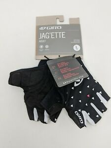 Ladies Short Finger Cycling Gloves Giro Jag'ette Road Mitts Black/Sharktooth