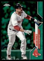 2020 Topps Chrome Base Green Refractor #189 J.D. Martinez /99 - Boston Red Sox