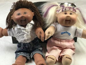 Cabbage Patch Dolls X 2 Play Along 2004 Made In Hong Kong