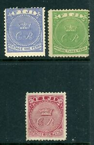 Fiji 1871 complete SG 10 - 12 MM/UN