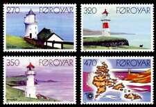 Faroe Islands 1985 Lighthouses & Map, Nolsoy, Mykines, Torshavn, UNM / MNH