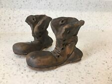 2 VINTAGE POTTERY BOOTS HANDMADE