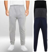 Mens Boys Adults Jogging Bottoms Joggers Lined Plain Pockets Drawstring Size NEW