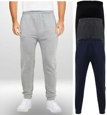 Mens Boys Adults Jogging Bottoms Joggers Lined Plain Pockets Drawstring Size NEW