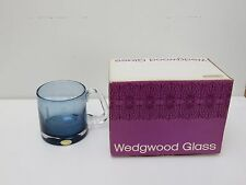 WEDGWOOD CRYSTAL BLUE HEAVY TANKARD LIVERPOOL TO MANCHESTER RAILWAY 1830-1980