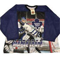 Vtg NWT Toronto Maple Leafs Hockey Jersey CCM Goalie 90s All Over Print XL
