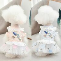 Cute Princess Pet Dog Dress for Small Dogs  Cotton Lace Puppy Cat Clothes Skirt