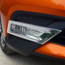 2* Accessories Chrome Front Fog Light Lamp Cover Trim For Nissan Kicks 2016-2019