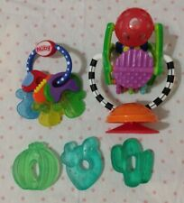 Teething Toys Lot: Nuby Keys, Sassy Wheel, Water Cactus Set, Infant Baby Toddler