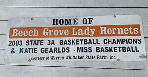 Vintage Beech Grove 2003 Indiana State Basketball Champions Miss Katie Gearlds