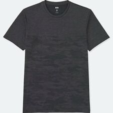 UNIQLO 'Dry-Ex Shadow Camouflage' Fitness Athletic T-Shirt Men's XL Dk Gray NWT