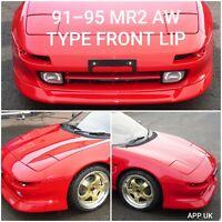 91-95 Toyota MR2 Front Bumper Lip Splitter AW Style   TRD   Plastic   Black NEW