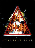 DEF LEPPARD 1987 HYSTERIA U.S. TOUR CONCERT PROGRAM BOOK BOOKLET / NMT 2 MINT