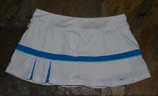 Womens' NIKE DRI-FIT White Blue Trim Tennis Golf Skirt Skort Size Large