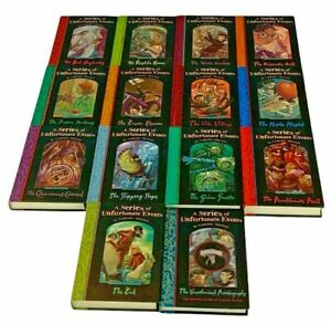 A Series of Unfortunate Events Lemony Snicket 1-13  Autobiography Hardback Books