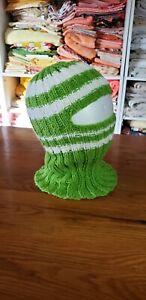 Handmade green and white Color Balaclava Ski Mask