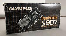OLYMPUS PEARLCORDER S907 Handheld Microcassette Audio Recorder - In Original Box