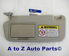 NEW 2001-2006 Hyundai Elantra (LH) DRIVER SIDE Beige SUN VISOR, OEM Hyundai