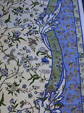 BRUNSCHWIG & FILS MENARS CANTON BLUE BORDER 100% COTTON PRINT FROM FRANCE BTY