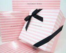 4 New Vintage Victoria'S Secret Gift Box w Tissue Paper & Black Ribbon 8 X 8 X 4