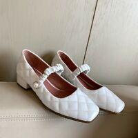 Womens Trendy Split Toe Ankle Strap Shoes Elegant Dress Shoes Pumps Mid Heel C88