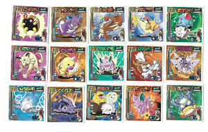 Pokemon Japan 1998 Amada Attack Line Stickers - Lot of (15)