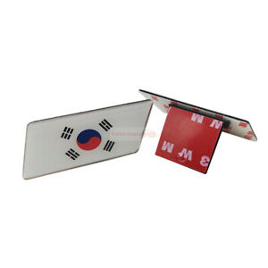 Fot KIA Korea Flag Car Resin Metal Front Grille Grill Emblem Badge Sticker