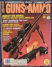 Vintage Magazine GUNS & AMMO September 1978 !!! ASTRA .357 Magnum REVOLVERS !!!