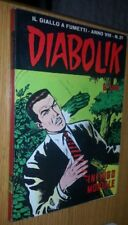 DIABOLIK ORIGINALE- ANNO VIII-8°- 1969 - n° 21 - INTRIGO MORTALE - EDICOLA