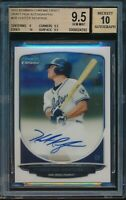 2013 Bowman Draft Hunter Renfroe Chrome Auto BGS 9.5 Gem Mint Autograph