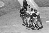 Original 2x2 B&W Negative May 24 1965 Braves vs.Giants Hank Aaron Eddie Mathews
