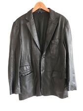Paul Smith London Men's Black Leather Jacket Size XL