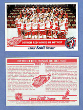 1992-93 Kraft Dinner (Canada) Detroit Red Wings Factory Redemption Postcard