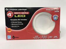 Lithonia Lighting 4 in. Matte White Recessed Baffle LED Lighting Kit