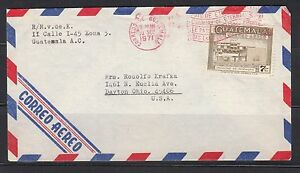 Guatemala 1971 Slogan cancel on airmail cover to US