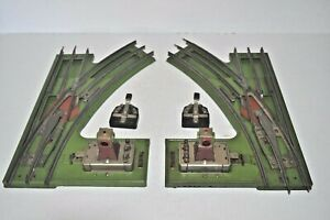 LIONEL ST.GAUGE  LEFT & RIGHT HAND 222 REMOTE-CONTROL SWITCHES W/2 CONTROLLERS