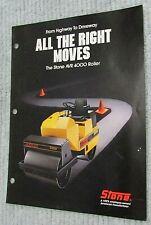 New Vintage 1988 Stone Construction Equipment Avr 4000 Roller Brochure Free Sh
