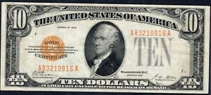 1928 $10 Gold Certificate - Nice Choice VF Note