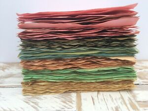 10 Sheets A5 Pastel Shades Tea & Coffee Dyed Paper for Junk Journals & Scrapbook